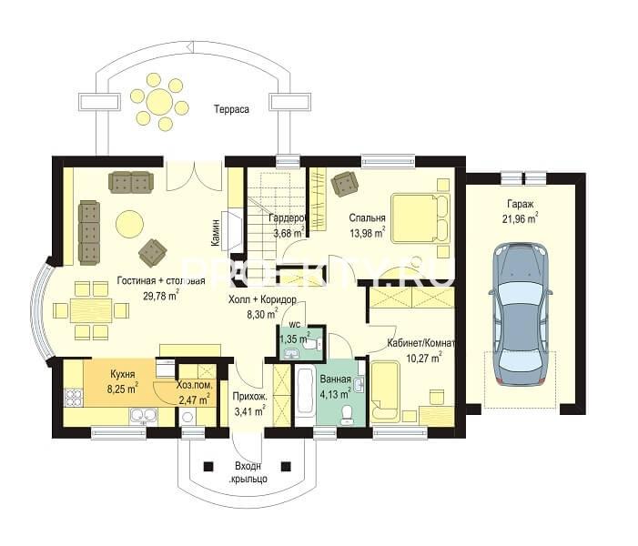 План проекта Гаргамель с гаражом