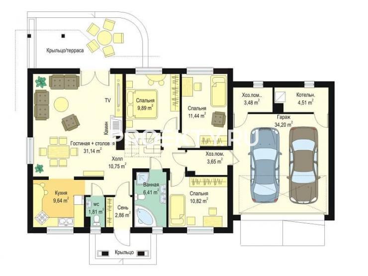 План проекта Незабудка с гаражом-2