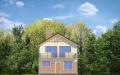 Фасад проекта Дом с Мансардой (миниатюра)