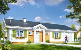 проект Солнечный с гаражом-2